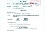 Bản công bố hợp quy số 02/2017 ngày 29/12/2017